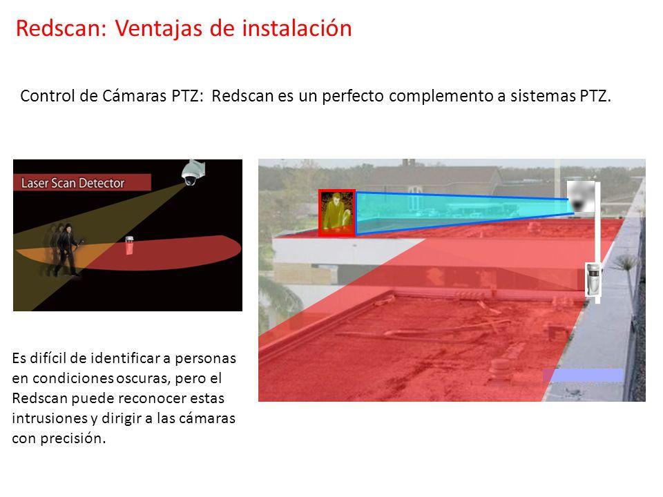 Control de Cámaras PTZ: Redscan es un perfecto complemento a sistemas PTZ. Es difícil de identificar a personas en condiciones oscuras, pero el Redsca