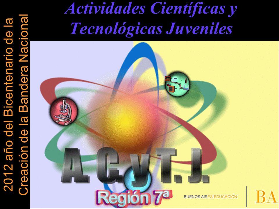 ACTIVIDADES QUE REALIZA EL PROGRAMA 1- CAPACITACION o ASESORES o EVALUADORES DE FERIAS DE CIENCIAS 2 - ENCUENTRO DE EDUCADORES 2012 Destinado a docentes de todas las Ramas y Modalidades 3 - OLIMPIADAS ACTJ 4 - CLUBES DE CIENCIAS 5 - FERIA DE CIENCIA Y TECNOLOGÍA