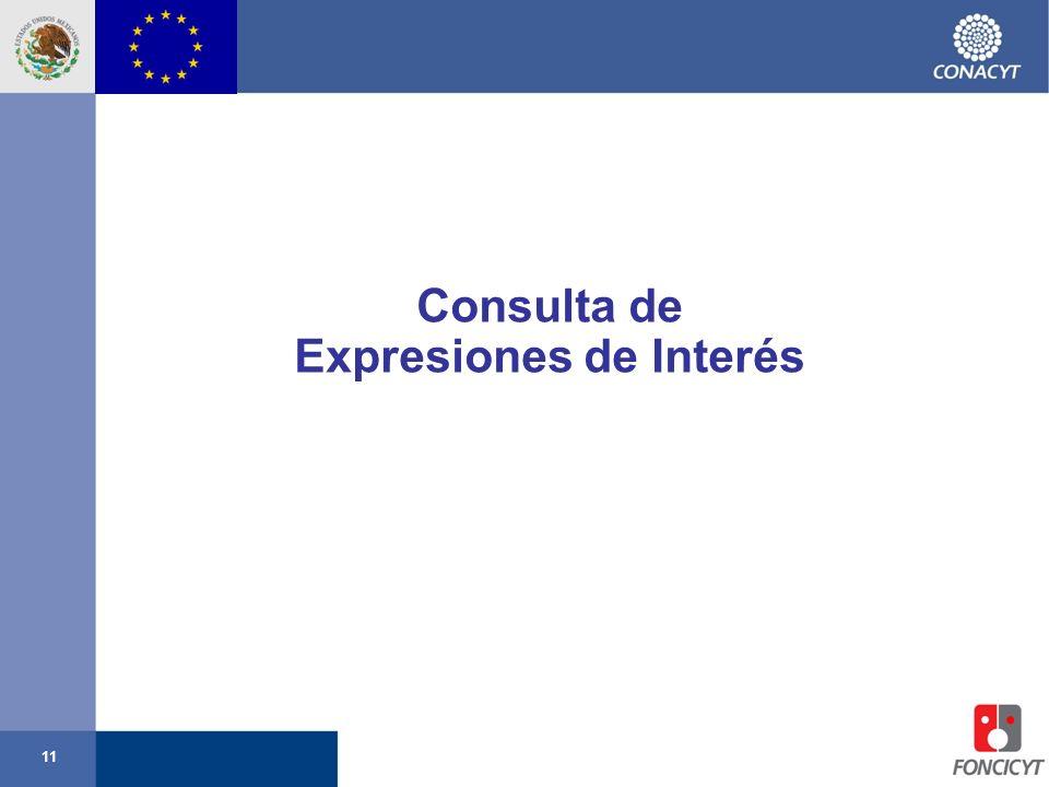 11 Consulta de Expresiones de Interés