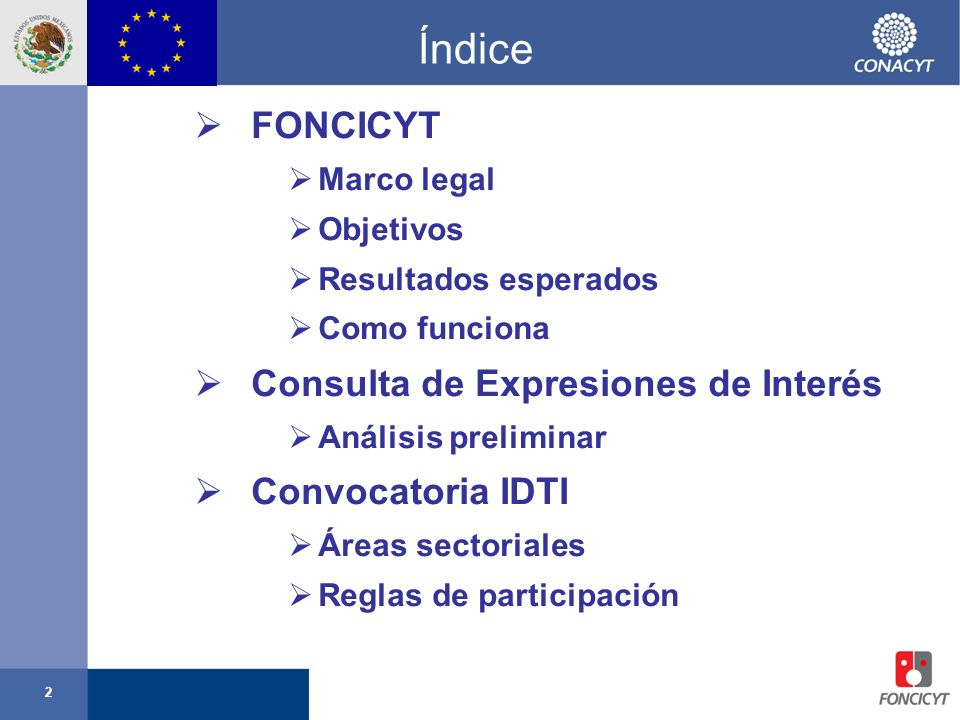 3 Third Countries S&T Cooperation Agreements FONCICYT Experiencia Piloto