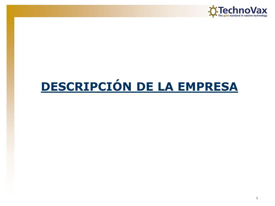 2 Tabla de Contenidos Descripción de la Empresa3 Introducción Objetivos de negocio Equipo Directivo Junta Consultiva Etapas Tecnologías9 Vacuna de VLP Fabricación Oportunidades de mercado Technovax vs.