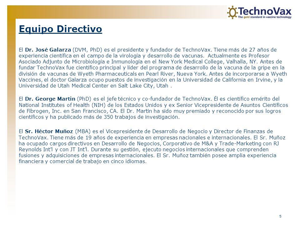 16 Propiedad Intelectual La cartera de propiedad intelectual (IP) de TechnoVax abarca las patentes de EE.UU.