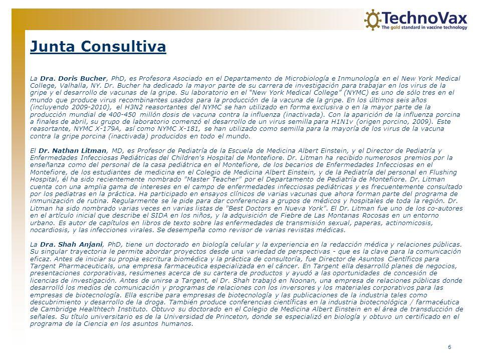 7 Junta Consultiva (cont.) El Dr.