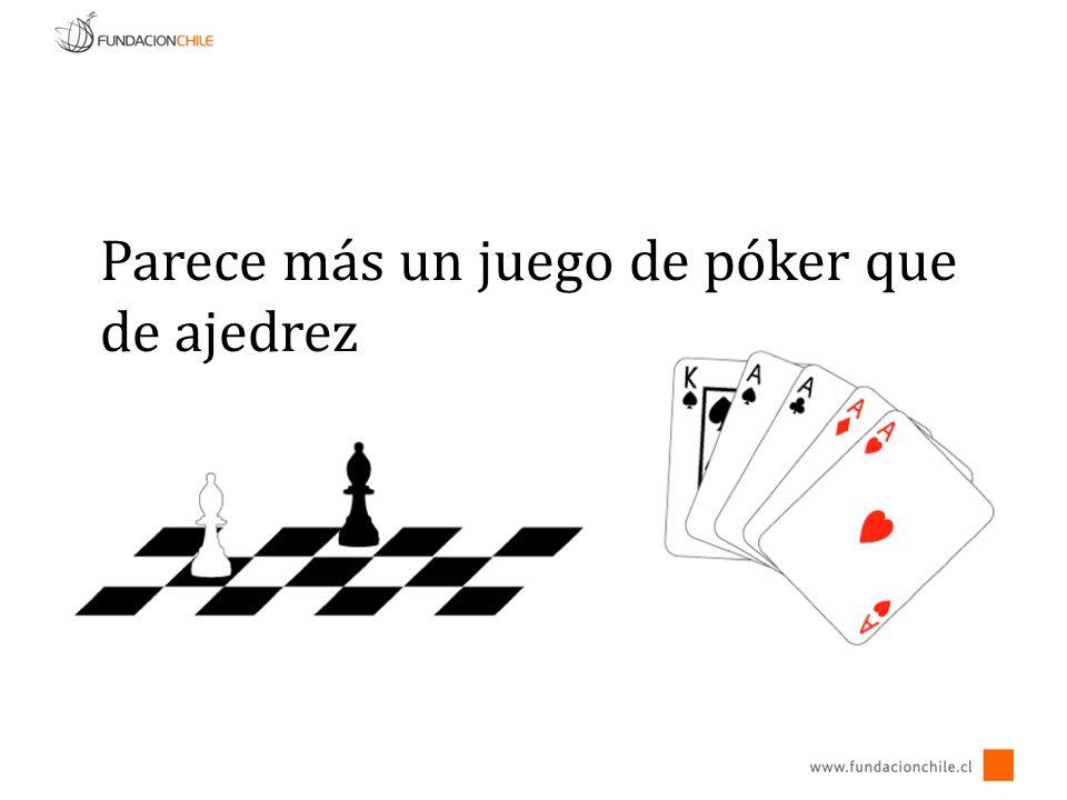 Parece más un juego de póker que de ajedrez