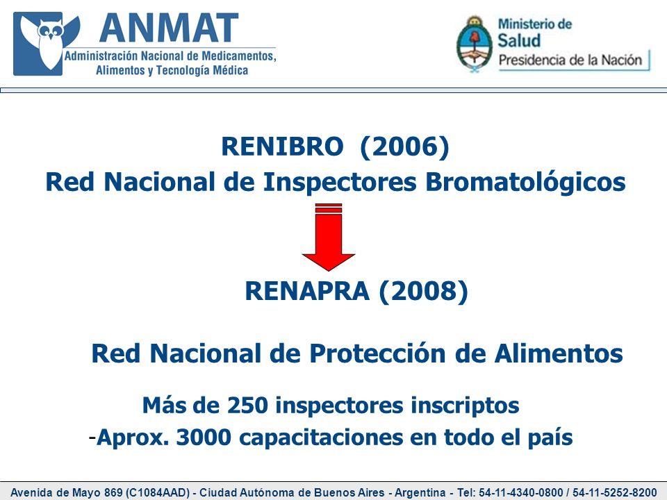 Avenida de Mayo 869 (C1084AAD) - Ciudad Autónoma de Buenos Aires - Argentina - Tel: 54-11-4340-0800 / 54-11-5252-8200 Más de 250 inspectores inscripto