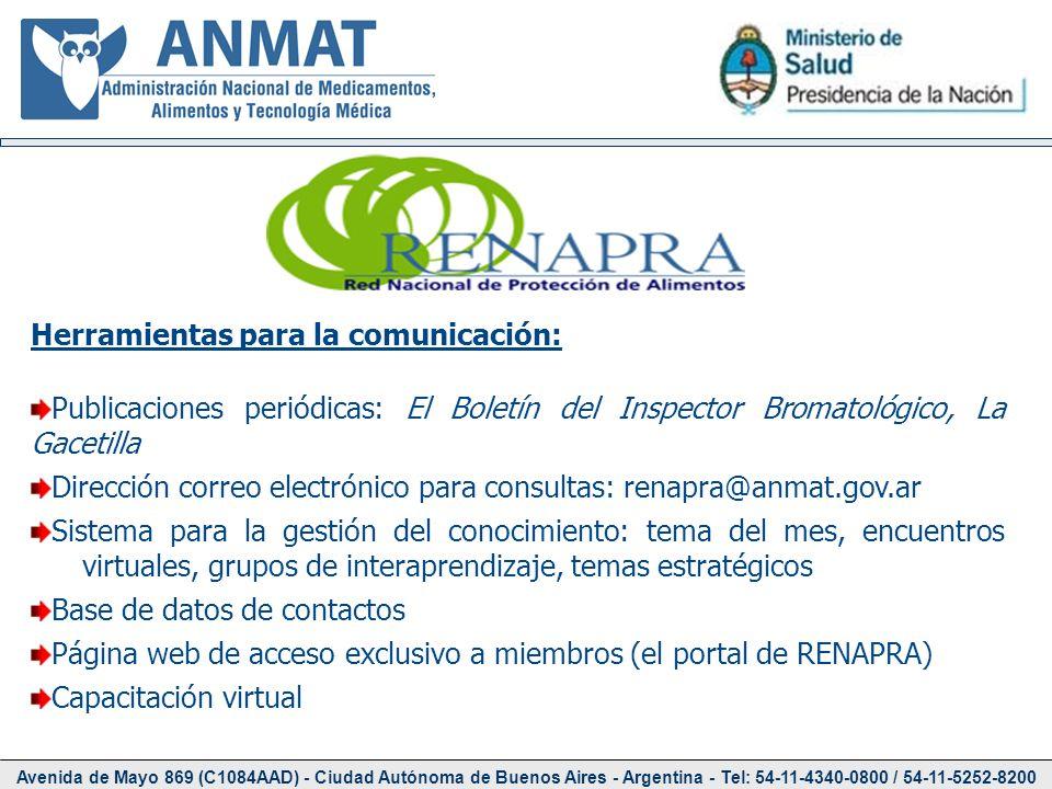 Avenida de Mayo 869 (C1084AAD) - Ciudad Autónoma de Buenos Aires - Argentina - Tel: 54-11-4340-0800 / 54-11-5252-8200 Herramientas para la comunicació