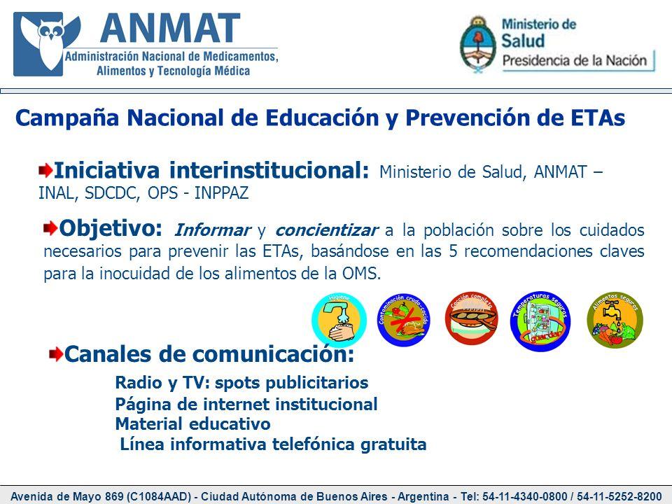 Avenida de Mayo 869 (C1084AAD) - Ciudad Autónoma de Buenos Aires - Argentina - Tel: 54-11-4340-0800 / 54-11-5252-8200 Iniciativa interinstitucional: M