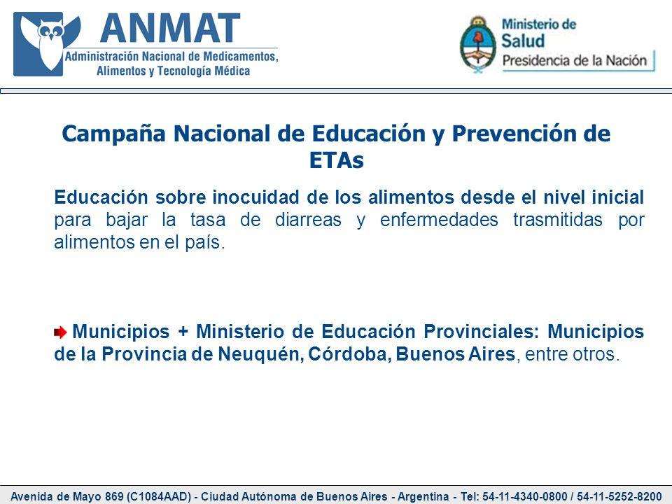 Avenida de Mayo 869 (C1084AAD) - Ciudad Autónoma de Buenos Aires - Argentina - Tel: 54-11-4340-0800 / 54-11-5252-8200 Educación sobre inocuidad de los