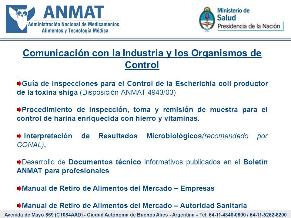 Avenida de Mayo 869 (C1084AAD) - Ciudad Autónoma de Buenos Aires - Argentina - Tel: 54-11-4340-0800 / 54-11-5252-8200 Comunicación con la Industria y