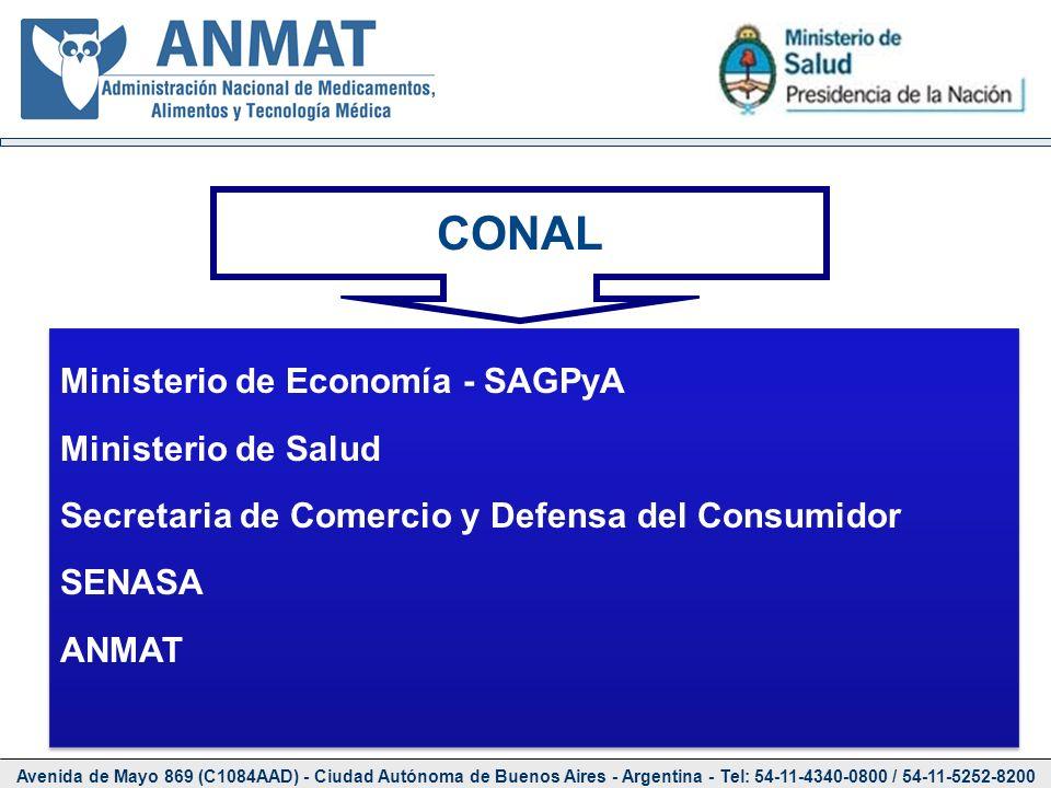 Avenida de Mayo 869 (C1084AAD) - Ciudad Autónoma de Buenos Aires - Argentina - Tel: 54-11-4340-0800 / 54-11-5252-8200 CONAL Ministerio de Economía - S