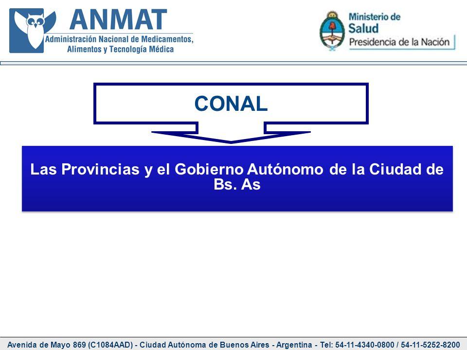 Avenida de Mayo 869 (C1084AAD) - Ciudad Autónoma de Buenos Aires - Argentina - Tel: 54-11-4340-0800 / 54-11-5252-8200 CONAL Las Provincias y el Gobier