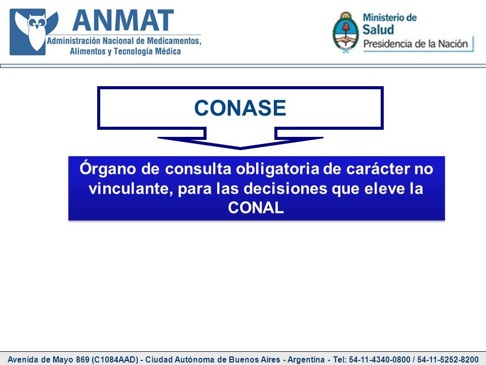 Avenida de Mayo 869 (C1084AAD) - Ciudad Autónoma de Buenos Aires - Argentina - Tel: 54-11-4340-0800 / 54-11-5252-8200 CONASE Órgano de consulta obliga