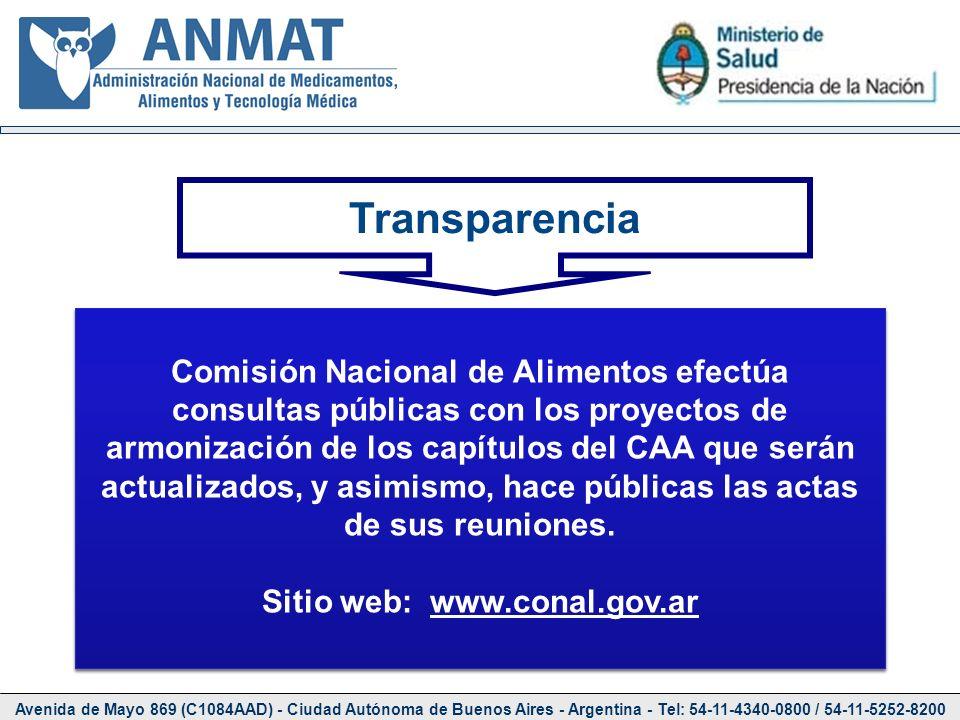 Avenida de Mayo 869 (C1084AAD) - Ciudad Autónoma de Buenos Aires - Argentina - Tel: 54-11-4340-0800 / 54-11-5252-8200 Transparencia Comisión Nacional