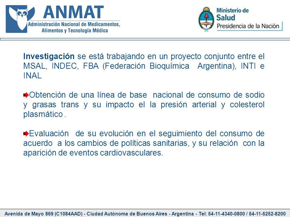 Avenida de Mayo 869 (C1084AAD) - Ciudad Autónoma de Buenos Aires - Argentina - Tel: 54-11-4340-0800 / 54-11-5252-8200 Investigación se está trabajando