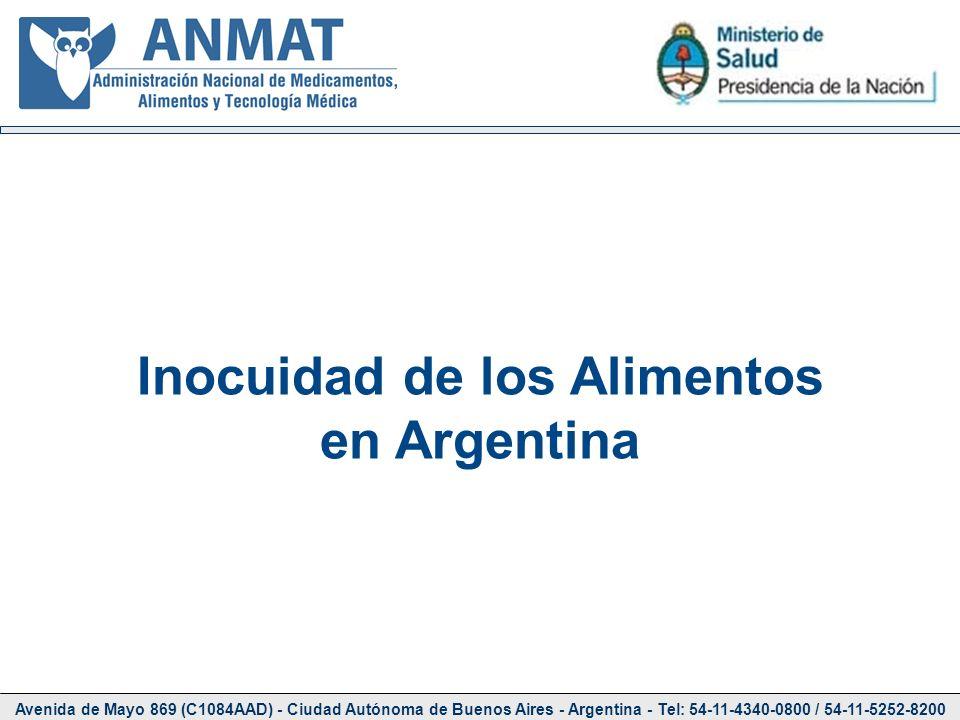Avenida de Mayo 869 (C1084AAD) - Ciudad Autónoma de Buenos Aires - Argentina - Tel: 54-11-4340-0800 / 54-11-5252-8200 Inocuidad de los Alimentos en Ar