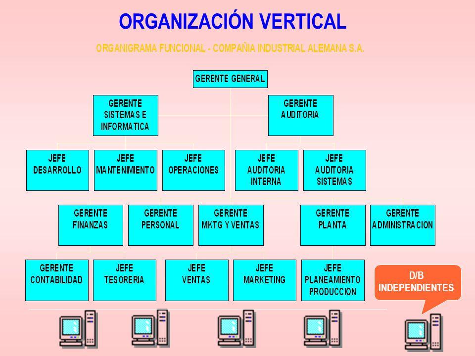 ORGANIZACIÓN VERTICAL D/B INDEPENDIENTES