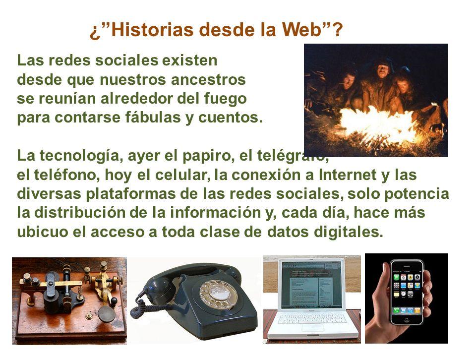 ¿Historias desde la Web.