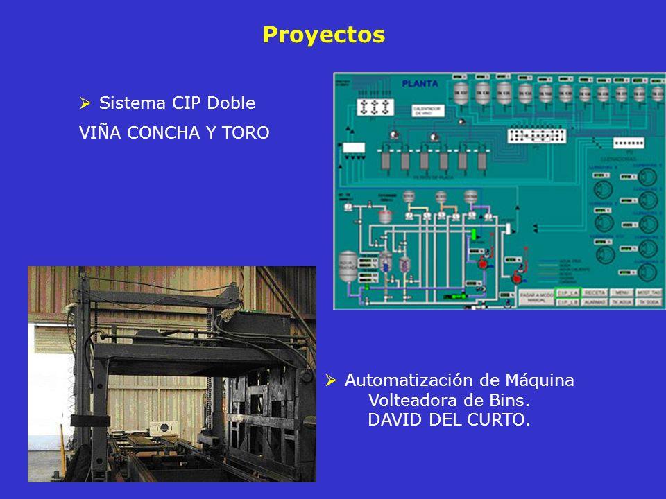 Proyectos Sistema CIP Doble VIÑA CONCHA Y TORO Automatización de Máquina Volteadora de Bins. DAVID DEL CURTO.
