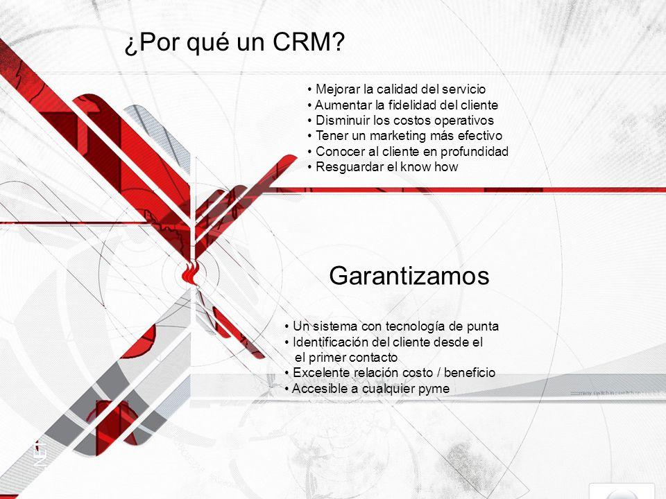 ¿Por qué un CRM.