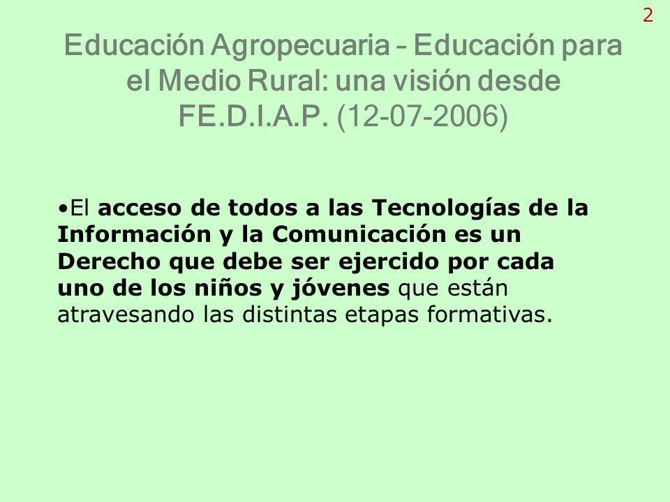 El acceso de todos a las Tecnologías de la Información y la Comunicación es un Derecho que debe ser ejercido por cada uno de los niños y jóvenes que e