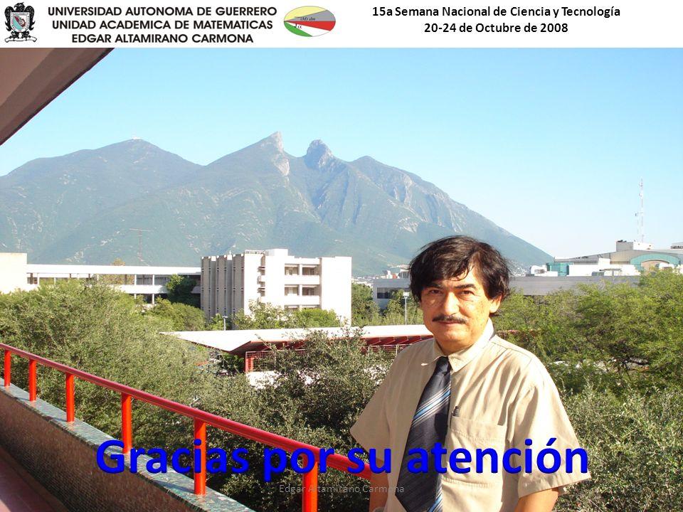 15a Semana Nacional de Ciencia y Tecnología 20-24 de Octubre de 2008 Edgar Altamirano Carmona12