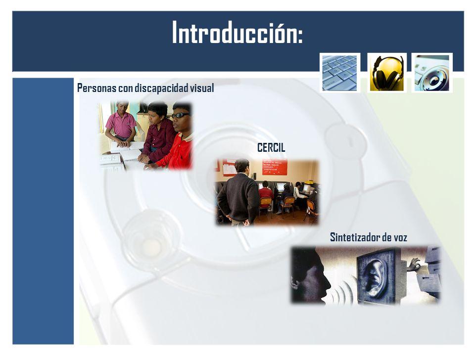 Introducción: Personas con discapacidad visual CERCIL Sintetizador de voz