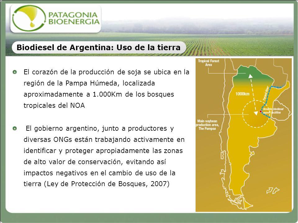 El corazón de la producción de soja se ubica en la región de la Pampa Húmeda, localizada aproximadamente a 1.000Km de los bosques tropicales del NOA E