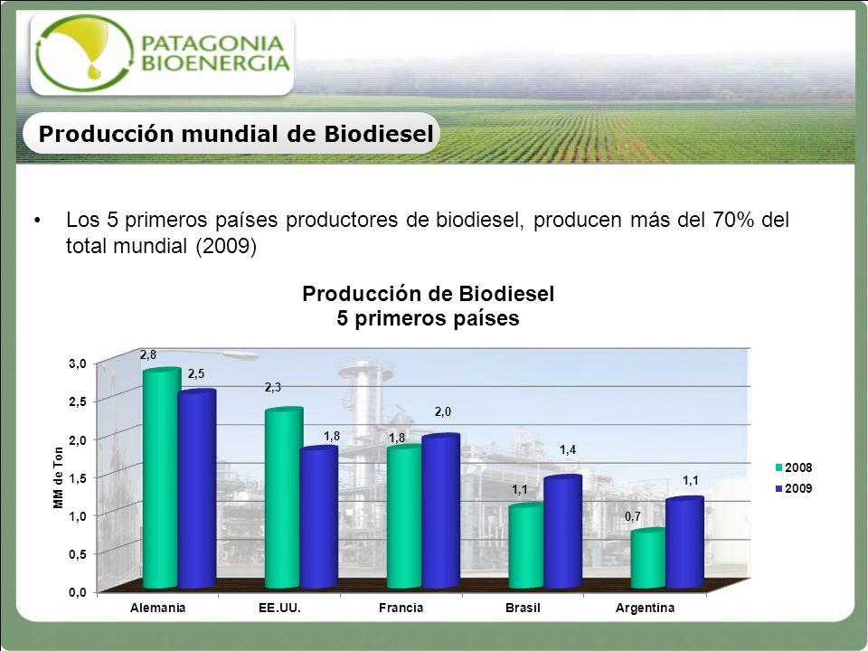 77 Mercado Mundial de Biodiesel Capacidad, Producción, Mercado Interno y Exportación 2010 (en MM Ton) 77 Biodiesel de Soja Biodiesel de Colza Biodiesel de Palma