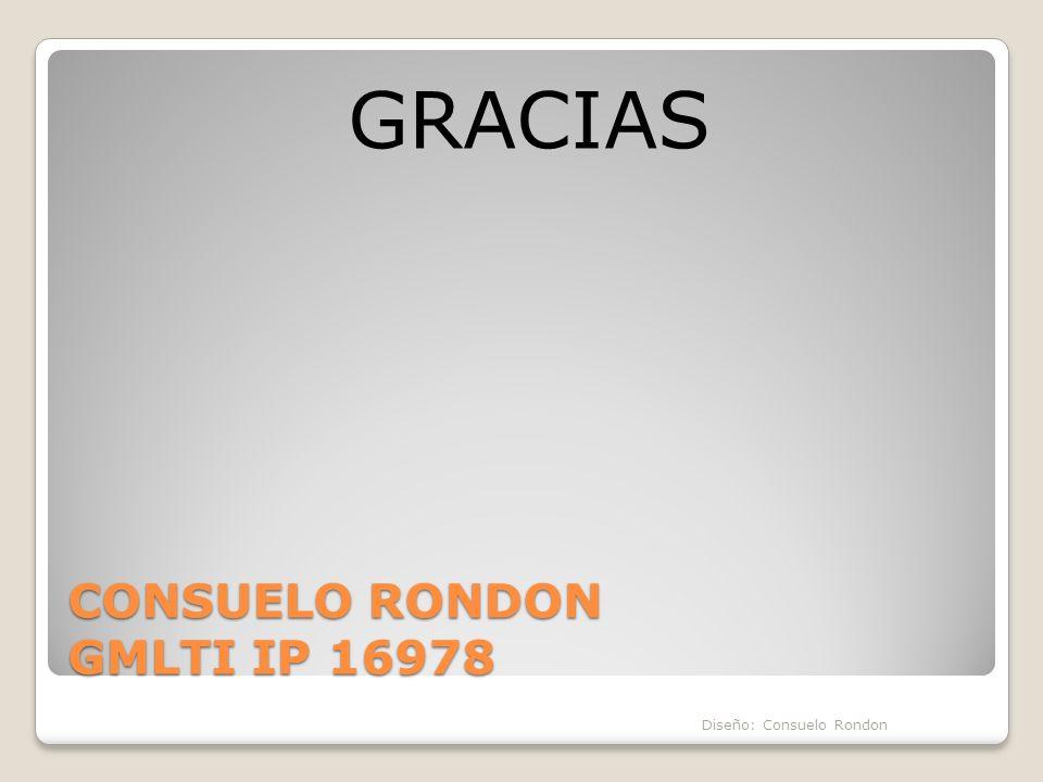 CONSUELO RONDON GMLTI IP 16978 GRACIAS Diseño: Consuelo Rondon