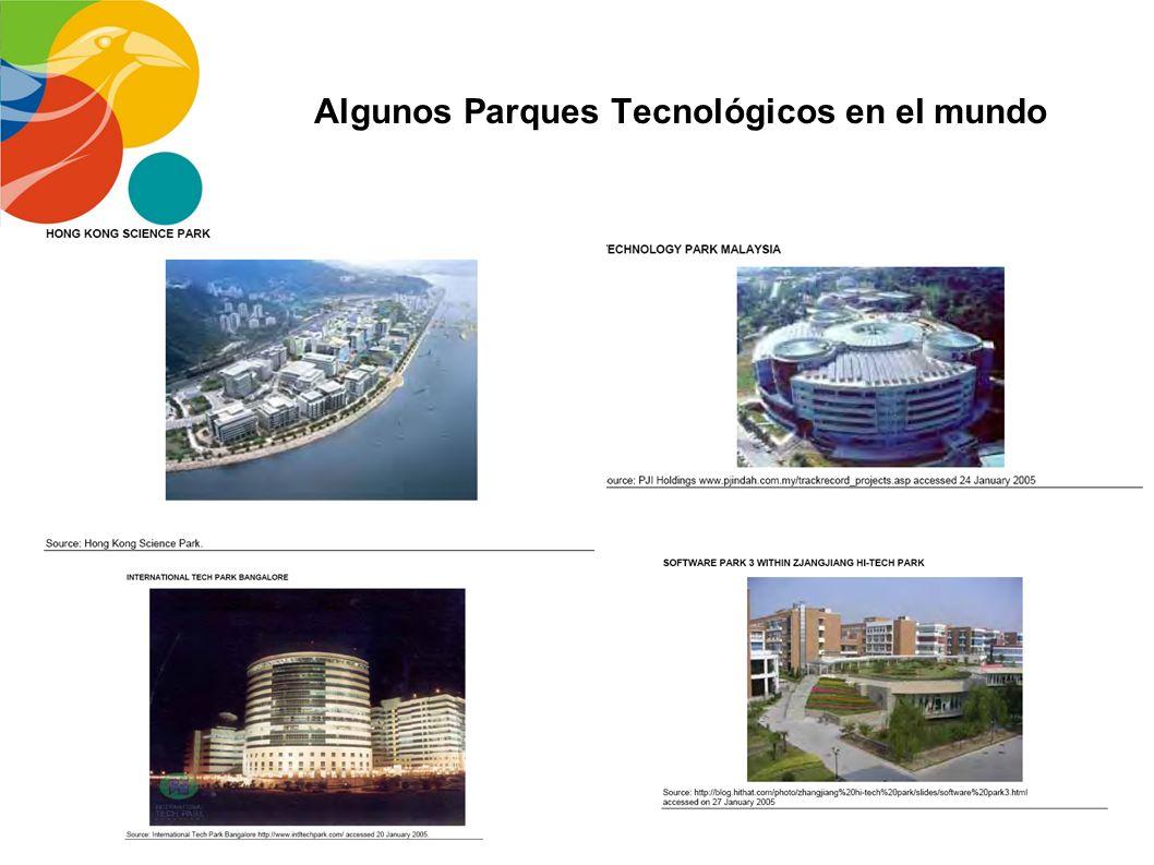 LOS PARQUES TECNOLÓGICOS, GRAN EMPUJE A LA ECONOMÍA En el mundo existen más de 1500 Parques Tecnológicos, de los cuales 400 son de gran tamaño. Todos