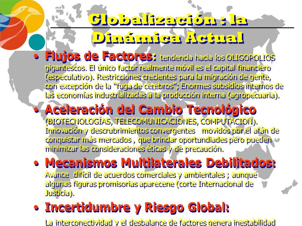 La Globalización Fallas teóricas y falacias Asimetrías de información (Stiglitz)Asimetrías de información (Stiglitz) Externalidades crecientes Externa