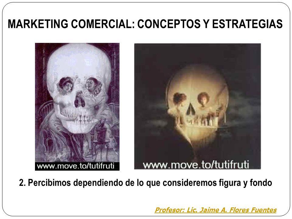 MARKETING COMERCIAL: CONCEPTOS Y ESTRATEGIAS 1. Reconocemos perfectamente la estructura del estímulo como una figura con sentido en nuestra memoria. P