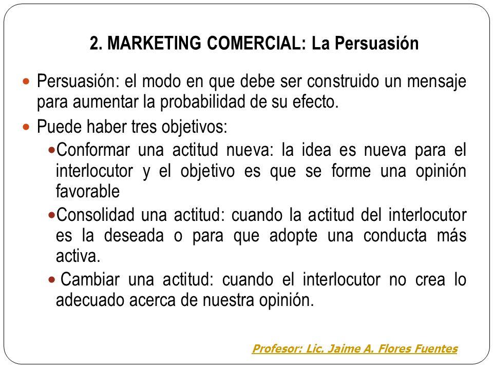 2. MARKETING COMERCIAL: Ejemplo de Marketing Ejemplo del anuncio en la radio. Comunicación entre publicidad y consumidor. Construimos la realidad a tr