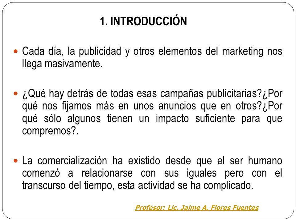 Área de Educación para el trabajo EL MARKETING TEMA 1 : DEFINICIONES BÁSICAS Profesor: Lic. Jaime A. Flores Fuentes