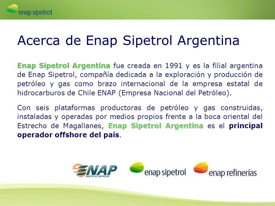 Enap Sipetrol Argentina Enap Sipetrol Argentina fue creada en 1991 y es la filial argentina de Enap Sipetrol, compañía dedicada a la exploración y pro