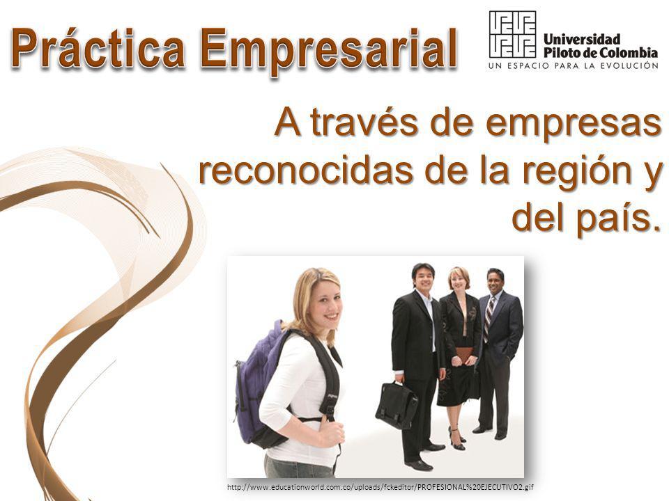 A través de empresas reconocidas de la región y del país.