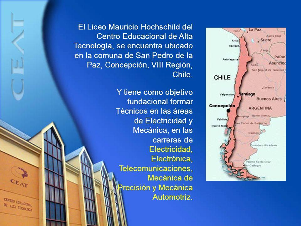 El Liceo Mauricio Hochschild del Centro Educacional de Alta Tecnología, se encuentra ubicado en la comuna de San Pedro de la Paz, Concepción, VIII Reg