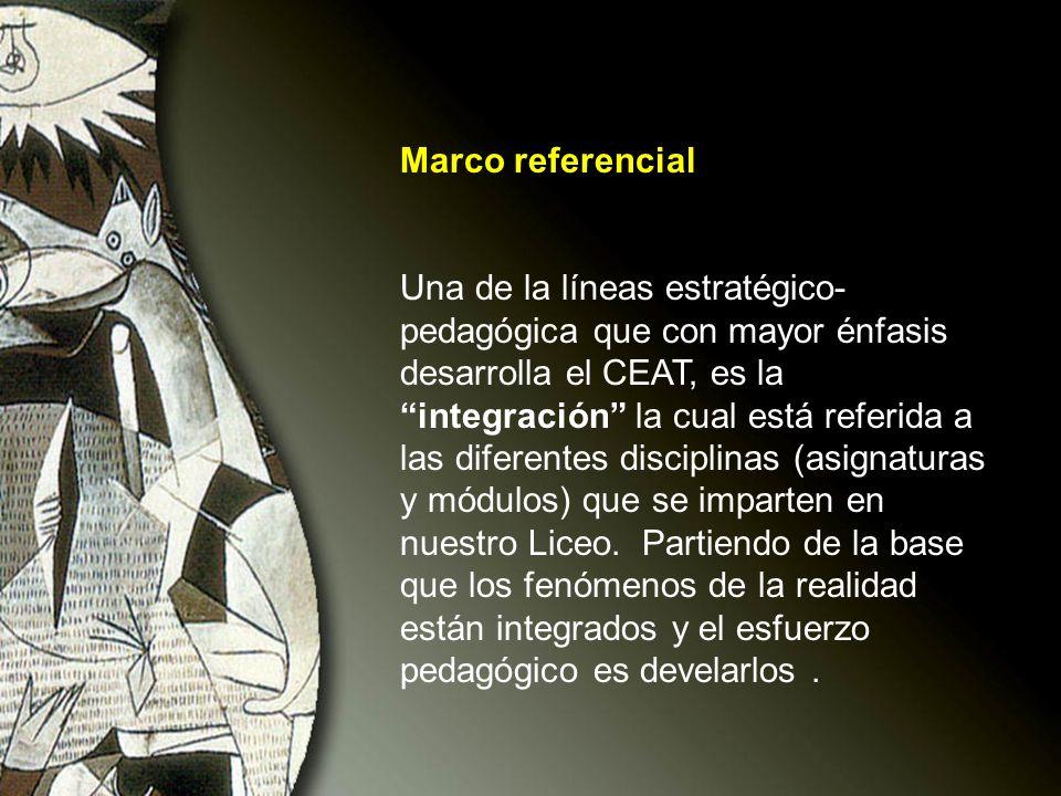 Marco referencial Una de la líneas estratégico- pedagógica que con mayor énfasis desarrolla el CEAT, es la integración la cual está referida a las dif