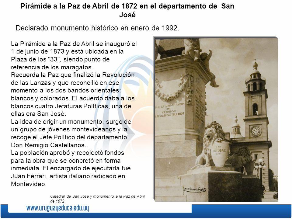 La Pirámide a la Paz de Abril se inauguró el 1 de junio de 1873 y está ubicada en la Plaza de los