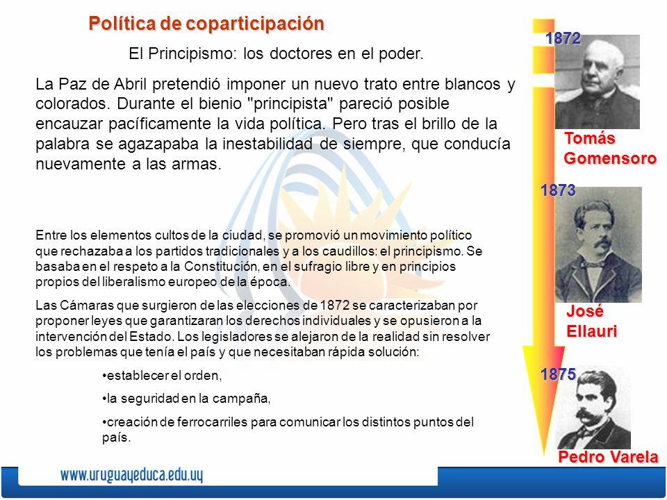 Política de coparticipación El Principismo: los doctores en el poder.