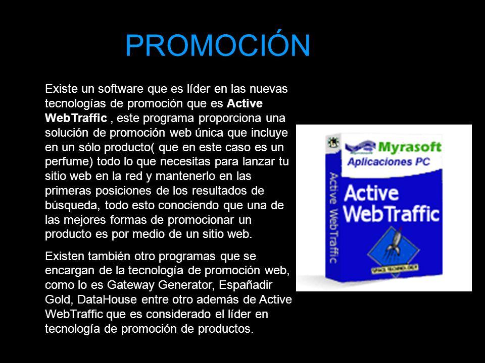 PROMOCIÓN Existe un software que es líder en las nuevas tecnologías de promoción que es Active WebTraffic, este programa proporciona una solución de p