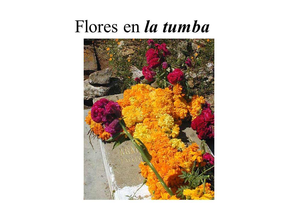 Flores en la tumba
