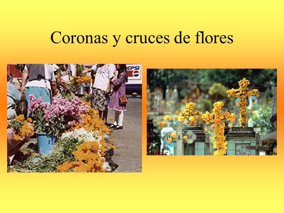Coronas y cruces de flores