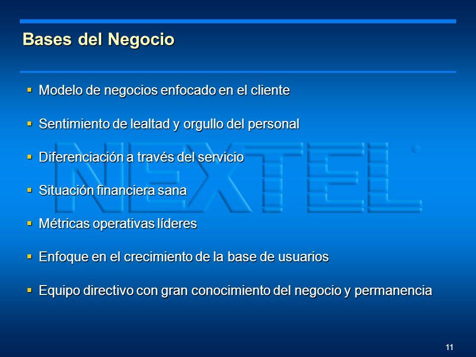 10 Resultado Reconocimiento como Operador inalámbrico del año en Latinoamerica otorgado por Pyramid Research en 2003 Reconocimiento como Operador inal