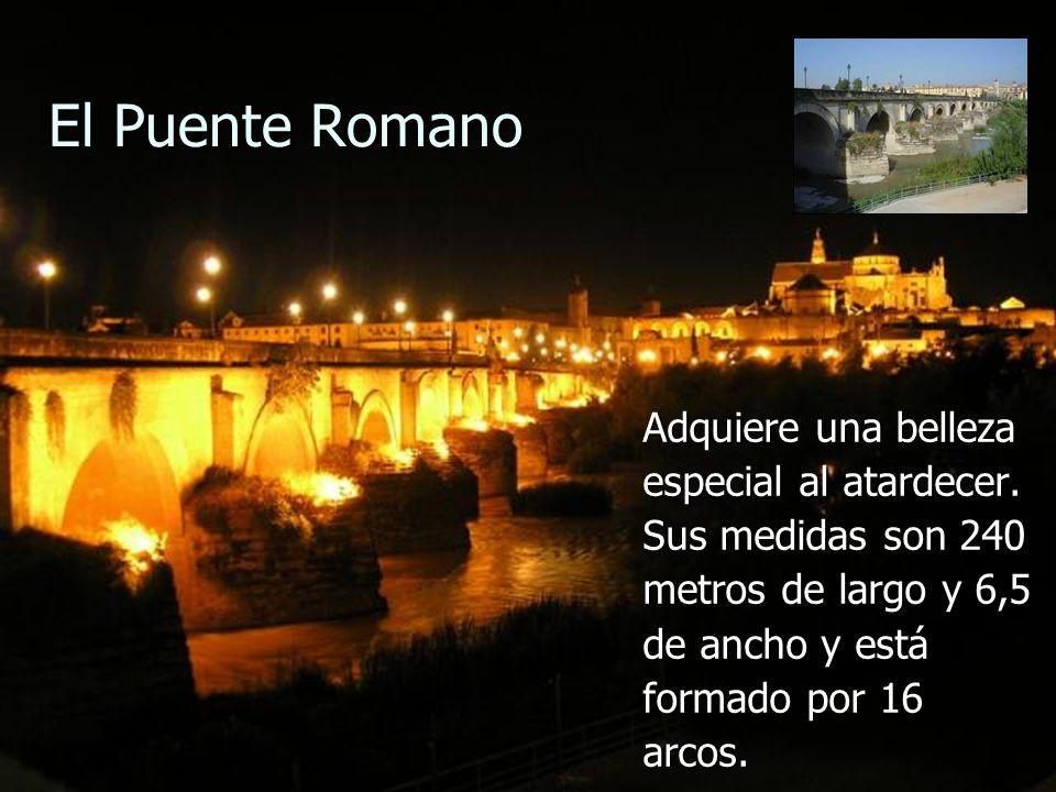 El Puente Romano Adquiere una belleza especial al atardecer. Sus medidas son 240 metros de largo y 6,5 de ancho y está formado por 16 arcos.