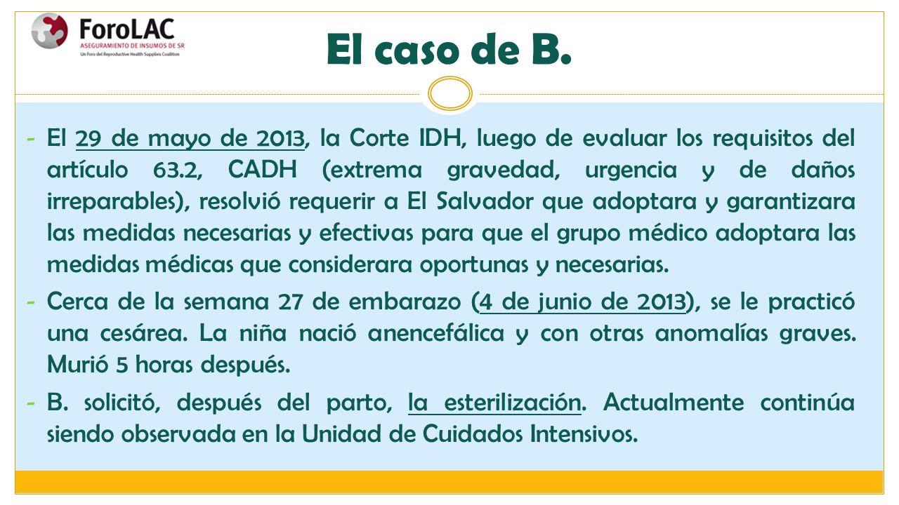- El 29 de mayo de 2013, la Corte IDH, luego de evaluar los requisitos del artículo 63.2, CADH (extrema gravedad, urgencia y de daños irreparables), r