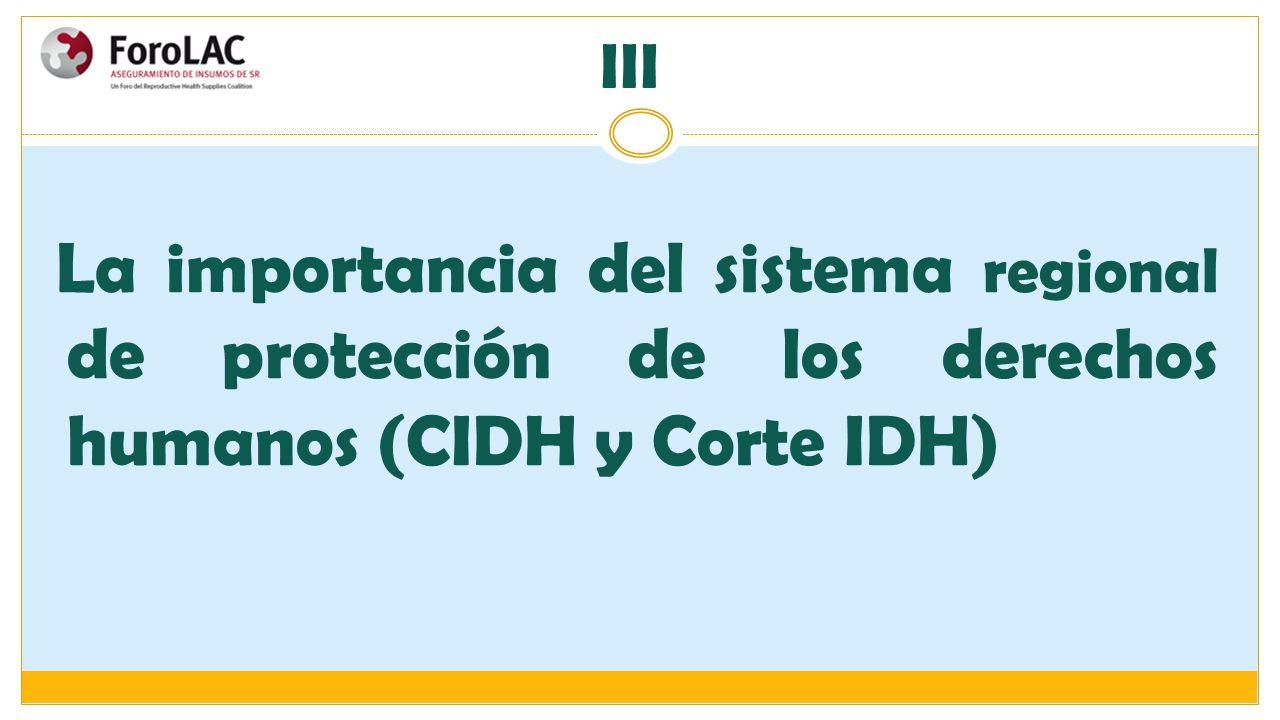 La importancia del sistema regional de protección de los derechos humanos (CIDH y Corte IDH) III