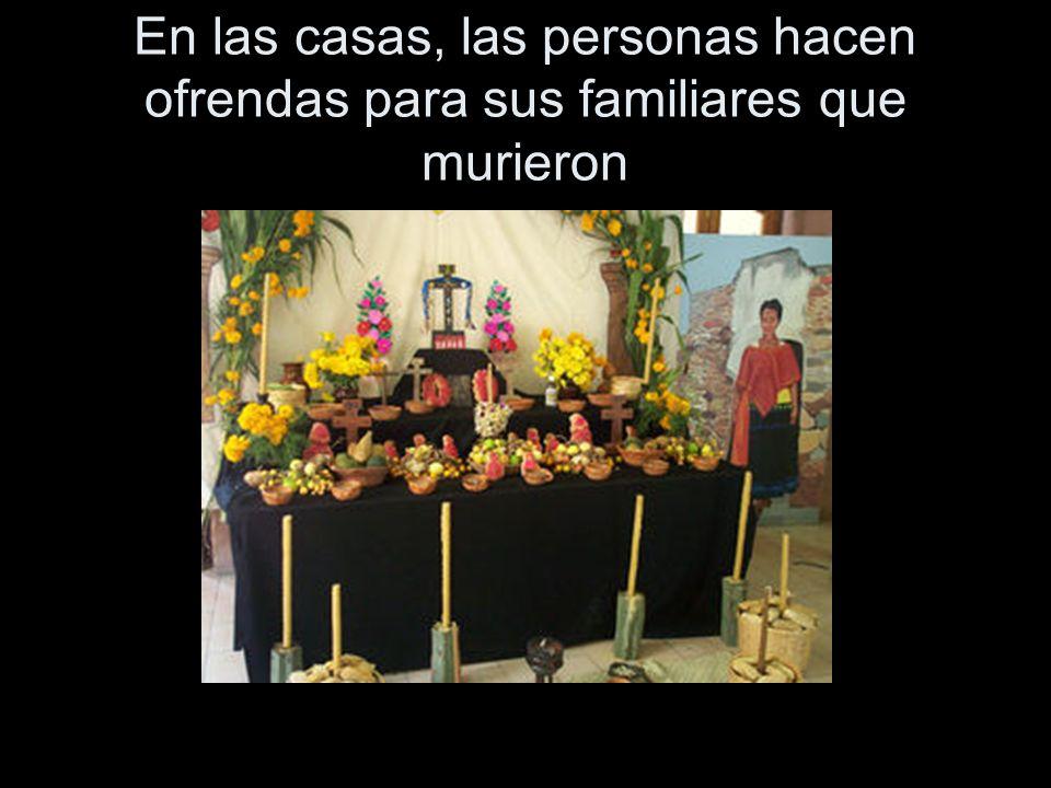 El propósito de la ofrenda es para recordar y honrar a la persona que murió.