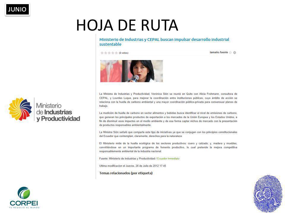 HOJA DE RUTA JUNIO