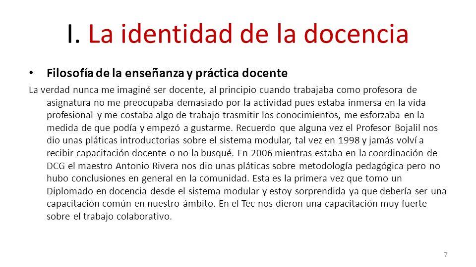 IV.La puesta en práctica de la docencia por competencias Reflexión y autoevaluación: – 1.